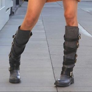 Steve Madden Byant Belted Riding Boots
